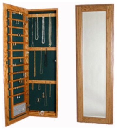 Large Wall Mounted Jewelry Cabinet, No Lock - Jewelry Armoires - by Organize-It