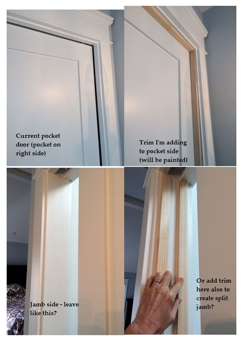 Trim On 2 Or 3 Sides For Pocket Door