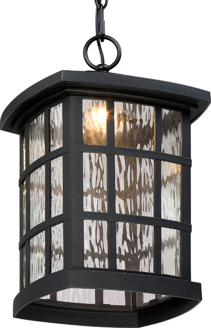 Luxury Craftsman Black Outdoor Pendant Light Uql1252 Zurich Collection