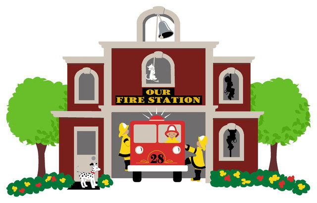 Our Fire Station Wall Mural Paint By Numbers