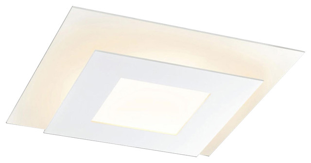 Offset Architectural Square Led Surface Mount In Textured White