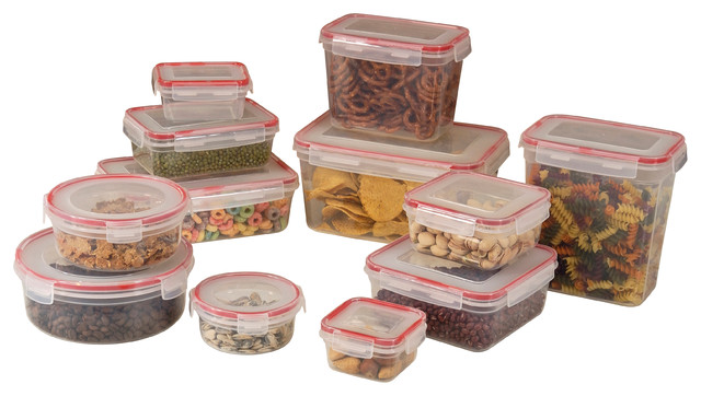Attirant Storage Containers 24 Piece Set Lock And Seal Lids