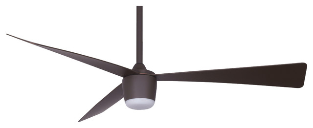 Star 7, DC motor, LED light, Remote Control Ceiling Fan, Oil Rubbed Bronze