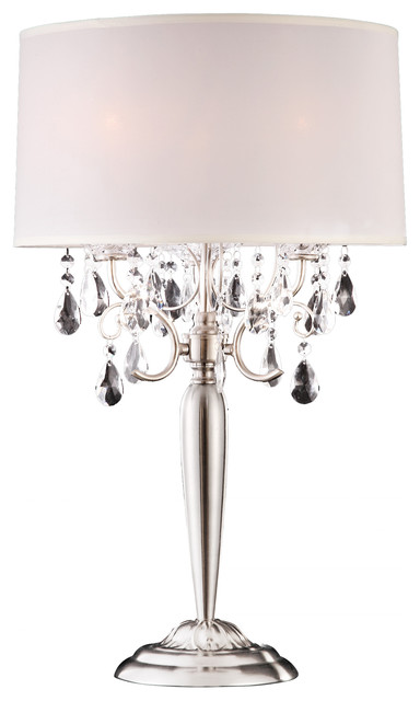 Crystal Silver Table Lamp.