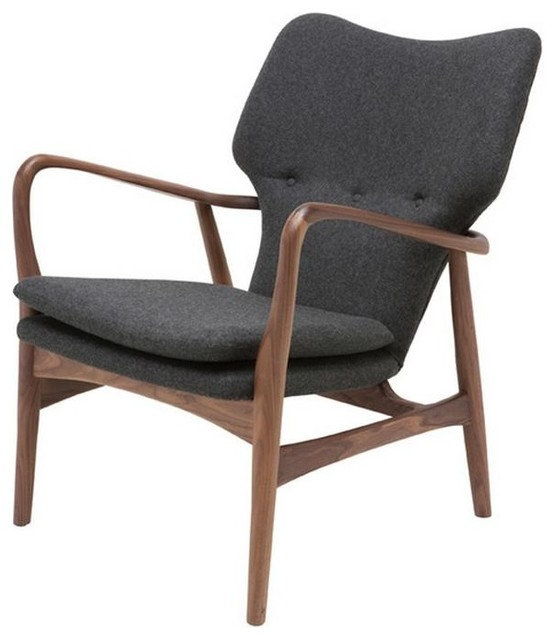 american ash frame armchair with walnut stain finish midcentury armchairs and accent