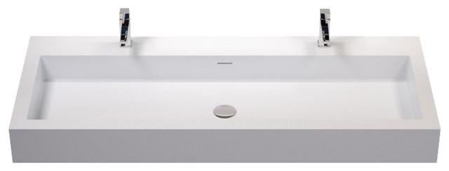 Badeloft Stone Resin Wall-mounted Sink - Contemporary - Bathroom ...
