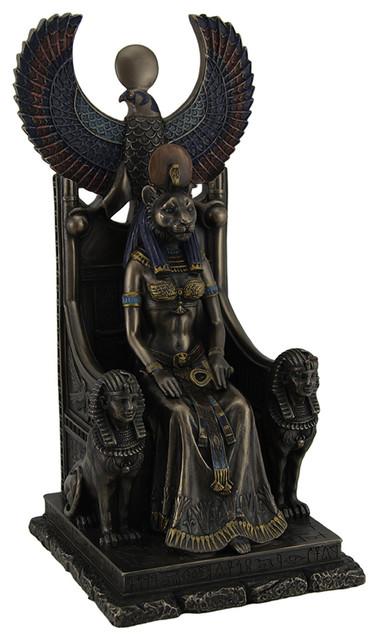 Ancient Egyptian Goddess Of Healing Sekhmet Sitting On