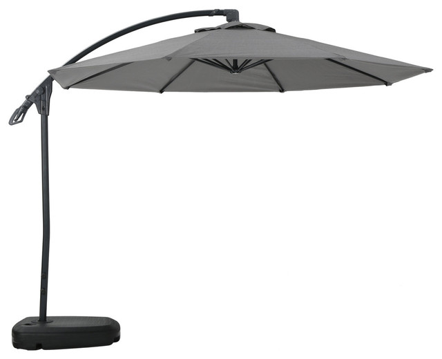 Sahara Outdoor Water Resistant Canopy With Plastic Base Aluminum Pole, Gray.