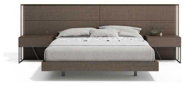 Almada 3 Piece Premium Bedroom Set Ash King Contemporary Bedroom Furniture Sets By Bedtimenyc Houzz