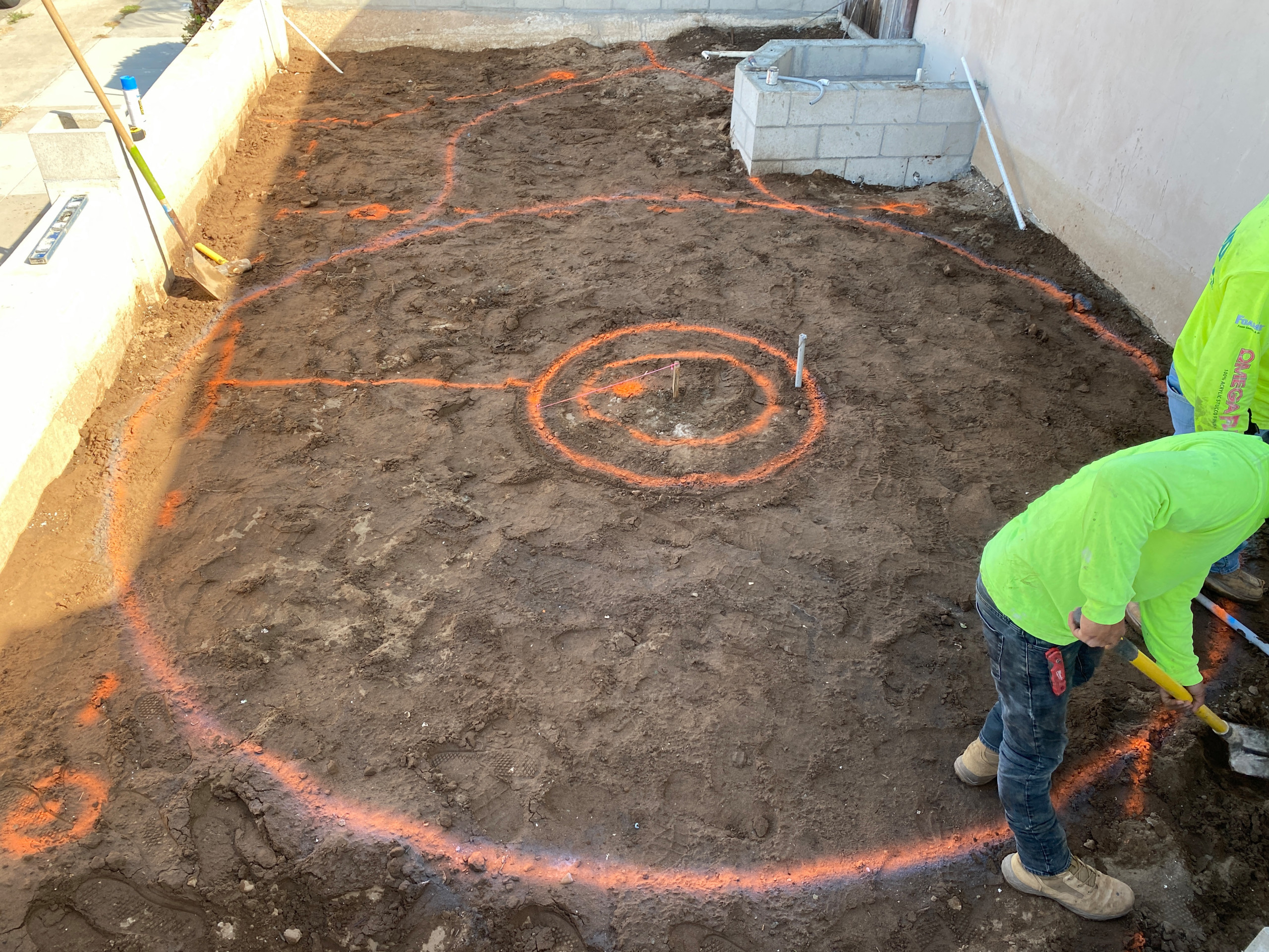 Fire Pit Layout and Flagstone Patio in Crown Point
