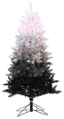 5Ft. Vintage Black Ombre Spruce With 250 clear lights