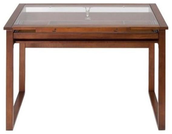 Studio Designs 13280 Ponderosa Glass Topped Table, Sonoma Brown.