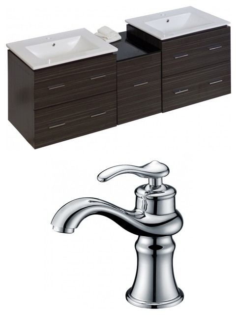Vanity For Small Bathroom Single Hole Faucet: Plywood-Melamine Vanity Set With Single Hole CUPC Faucet