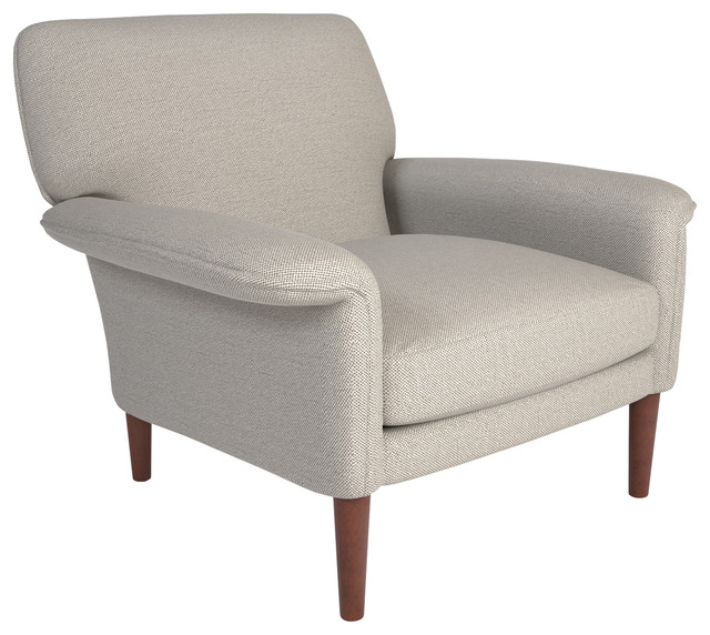 Efron Accent Chair, Silver-Taupe. -1