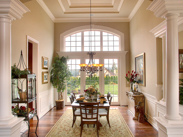 Aldarra Lot 92 Dining Room With Coffered Ceiling Traditional