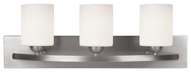 Leria Modern 3-Light Vanity, Nickel
