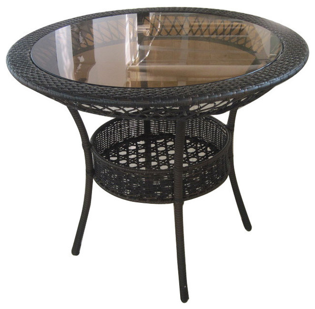 gaviota round outdoor wicker dining table tropical outdoor