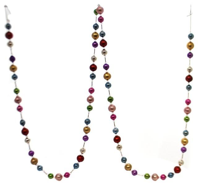 Christmas Jewel Toned Garland Glass Glass Bead Lg0736.