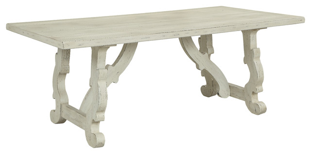 Orchard Park Dining Table White Rub
