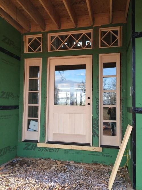 42 Door & Mahogany Solid Wood Front Door - Single With 2 Sidelites