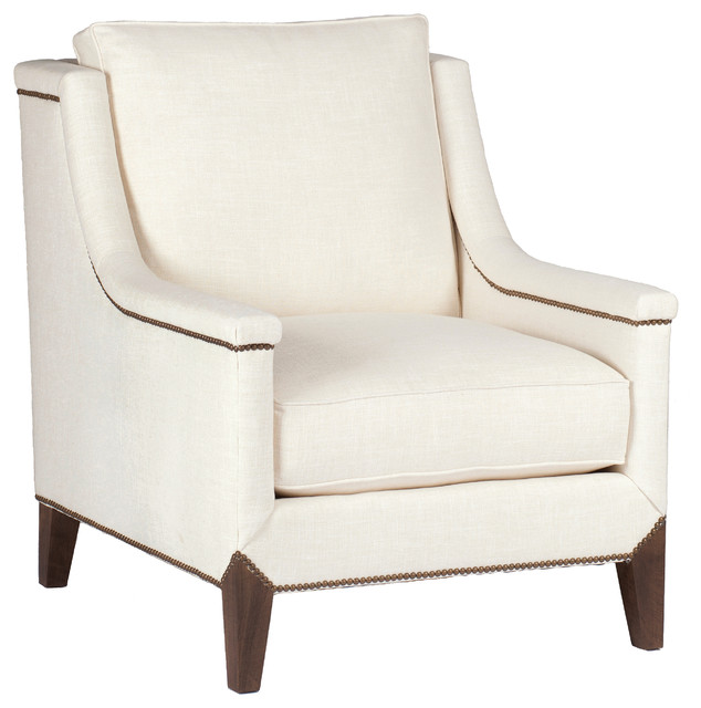 Gabby Liam Capped Arm Lounge Chair Transitional Indoor Chaise Lounge Chai