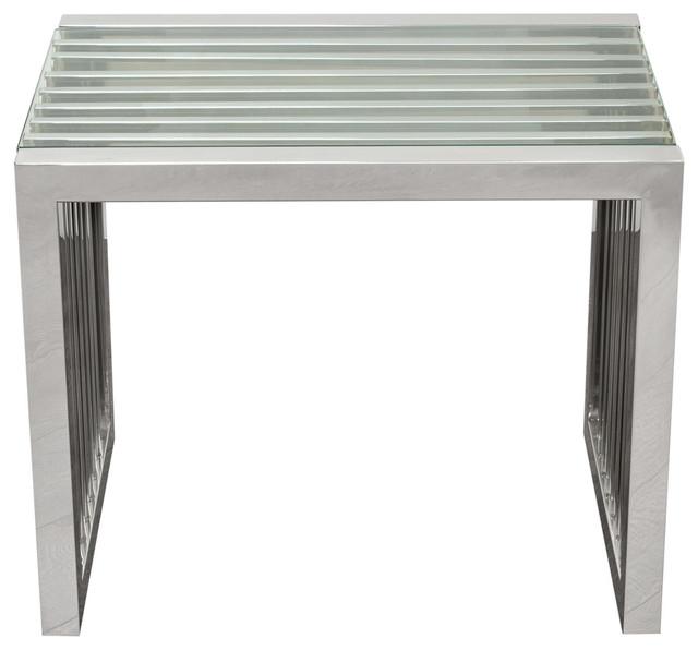 Soho Rectangular Stainless Steel End Table Side Tables