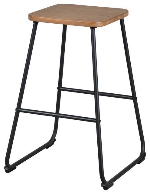 Chole 24 Quot Stool Industrial Bar Stools And Counter