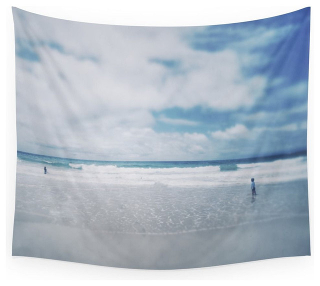 Society6 Vintage Beach Playing With