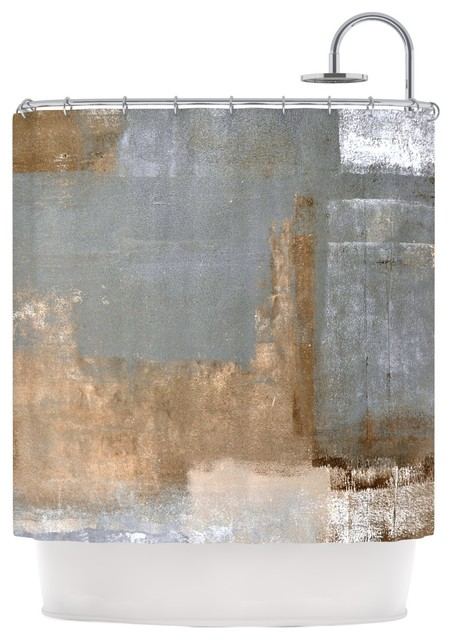 KESS InHouse CarolLynn Tice Gifted II Brown Gray Shower Curtain Contemporary