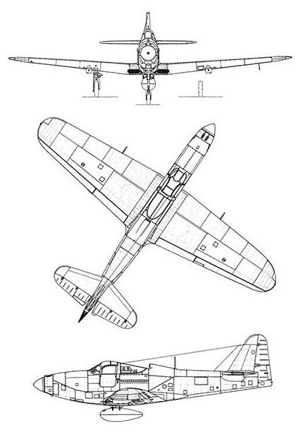 Bell P 63 Kingcobra Blueprint Poster