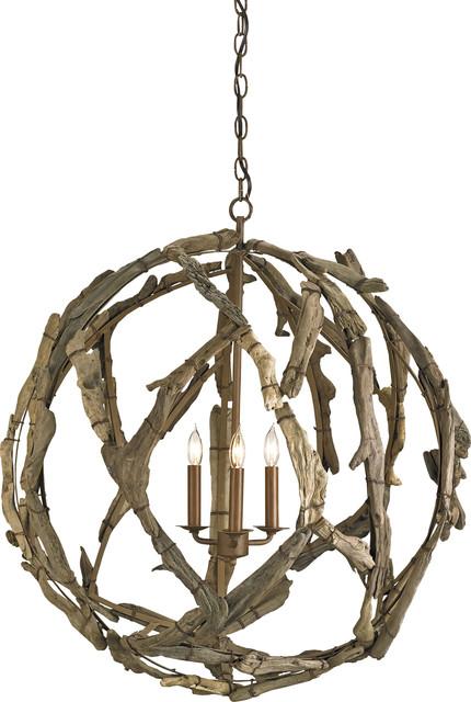 Driftwood Orb Chandelier, Natural
