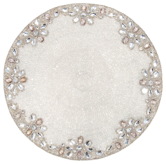 Bliss Home Amp Design Crystal Silver Jaipur Placemat