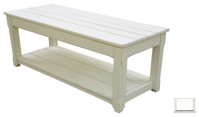 cottage plank coffee table or bench - transitional - coffee tables