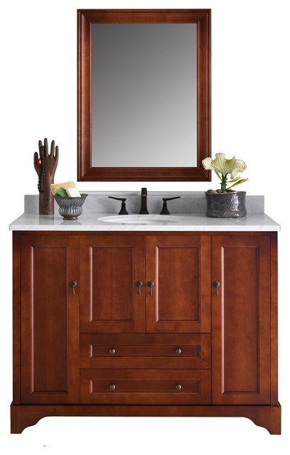 Ronbow Milano Solid Wood 48 Vanity Set With Ceramic Sink