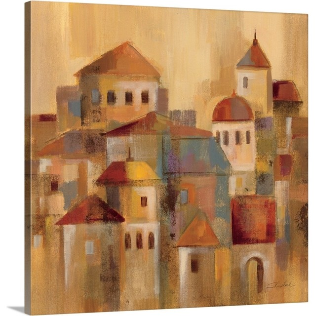 Old Town II Wrapped Canvas Art Print