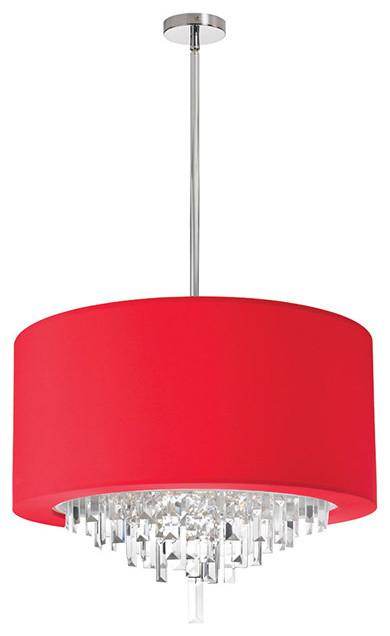 Red chandelier lighting techieblogiefo dainolite jas 196c pc 927 6 light crystal chandelier finish red aloadofball Images