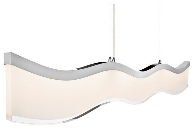 1 Light Led Bulb Island Light in Chrome - Contemporary - Kitchen Island Lighting - by 1800Lighting