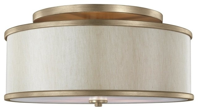 Feiss Semi-Flush Mount, Sunset Gold, 3-Light