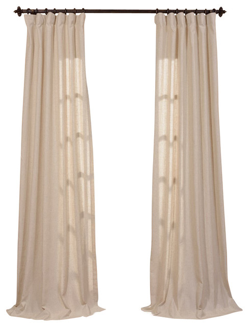 Hilo Solid Curtain, Single Panel traditional-curtains