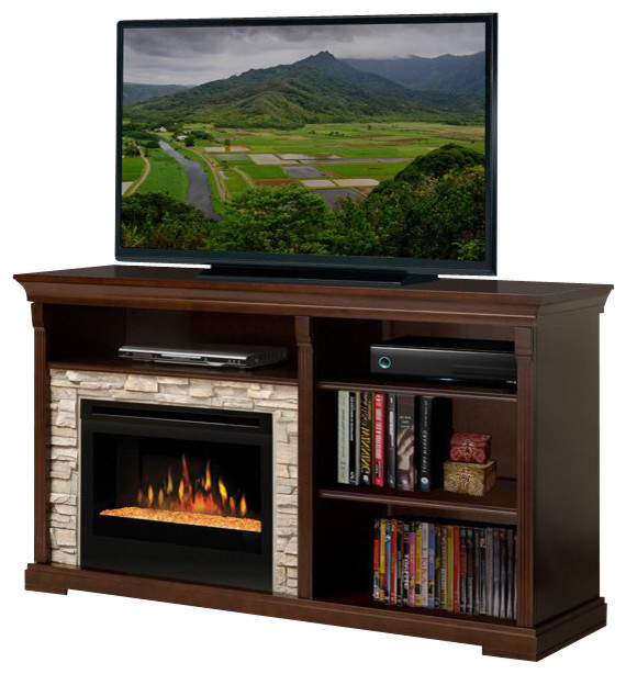 Dimplex Edgewood Electric Fireplace Entertainment Cabinet in Espresso