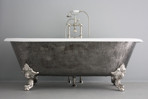 lena vintage cast slipper bathtubs iron double with tap tubs no copper hardware imperial monarch feet holes l tub bathroom acrylic clawfoot signature