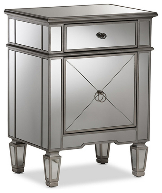 Incroyable Urban Designs Nottingham Glamour Style Mirrored Nightstand