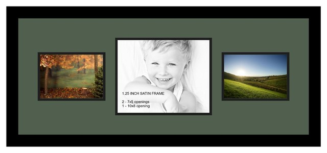 Arttoframes collage photo frame with 1 8x10 and 2 5x7 for 8x10 office design