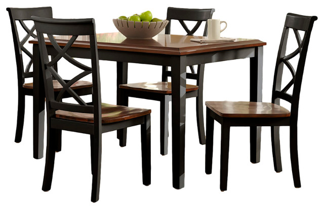 Harrison Black U0026 Cherry 5 Piece Dining Set
