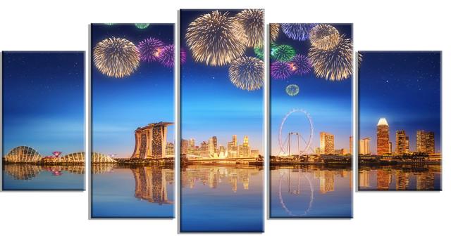 "Cityscape Wall Art singapore skyline"" cityscape photography metal wall art"