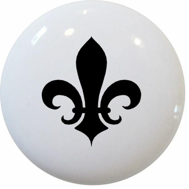 Carolina Hardware and Decor, LLC - Black Fleur De Lis Ceramic Knob & Reviews | Houzz