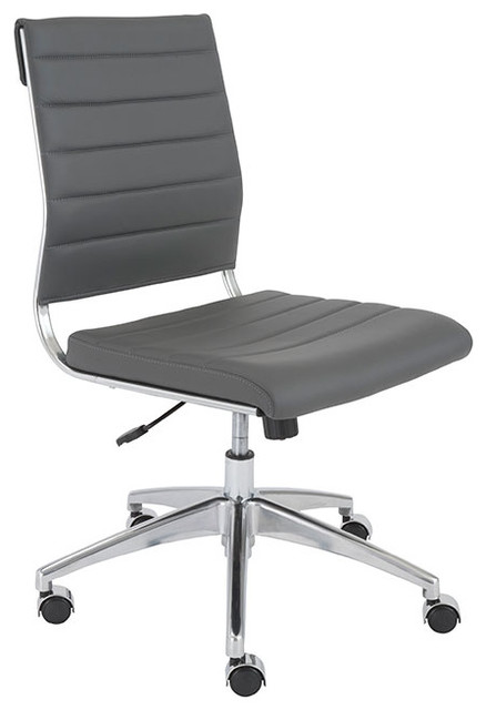 axel armless low back office chair, black - contemporary - office