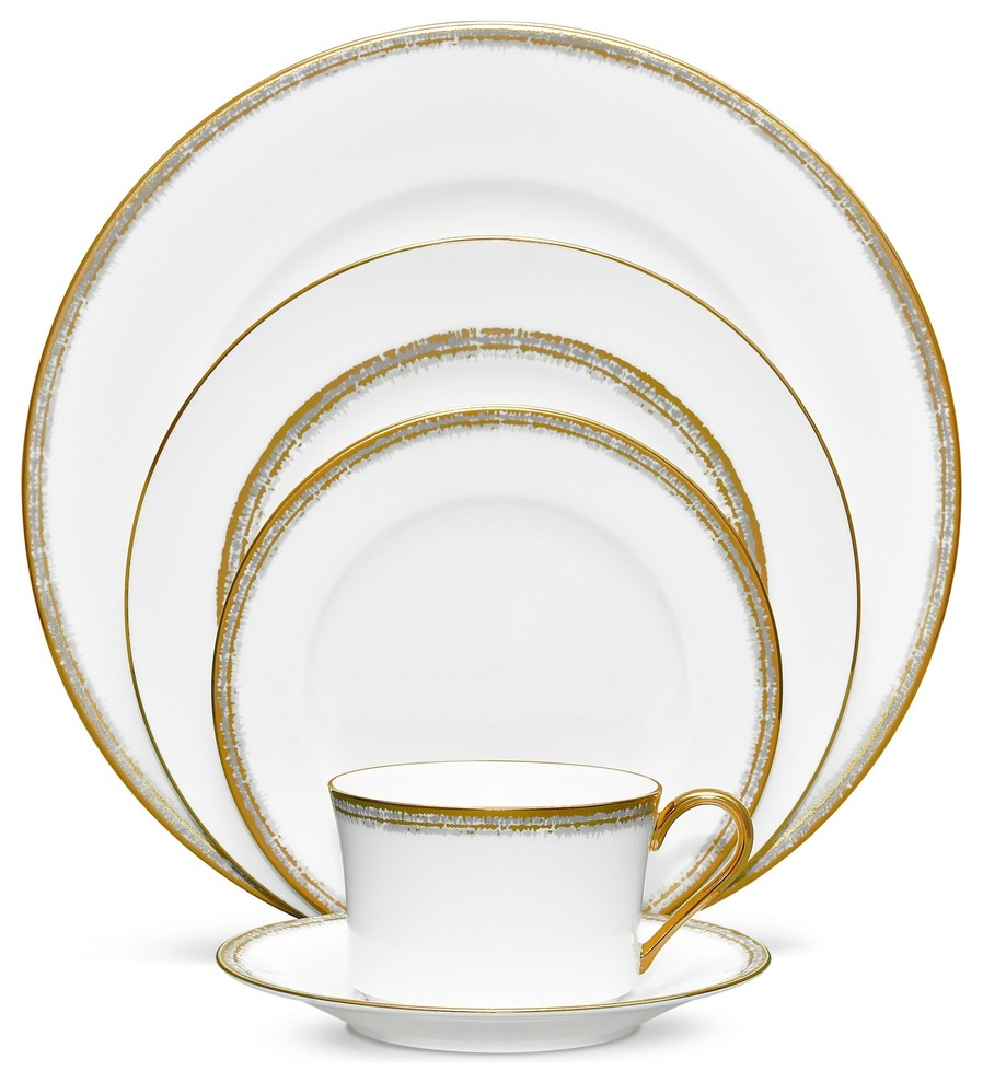 Noritake Haku 5 Piece Place Setting Contemporary Dinnerware Sets By Unique Gifts