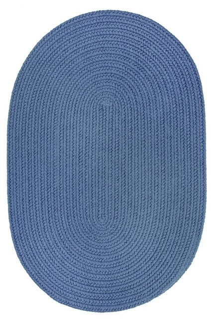 Rhody Rug Wearever Poly Marina Blue 2 X3 Oval Outdoor Rugs By Bisonoffice