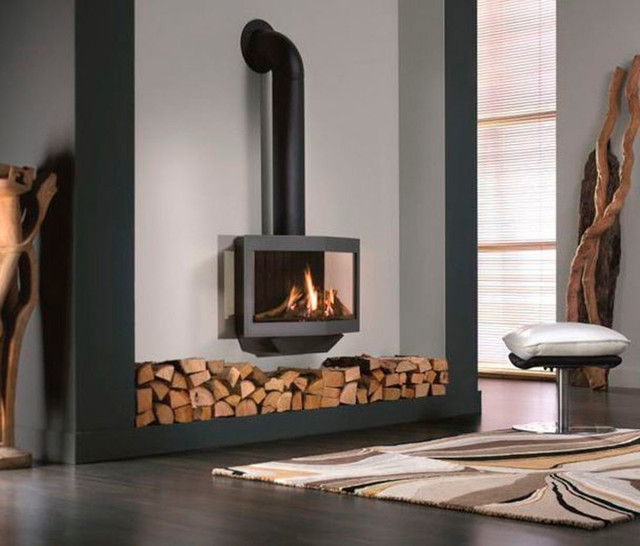 Wanders Stealth Balanced Flue Gas Fireplace Stove Modern Wood Burning Stoves Other Metro on patio design ideas product